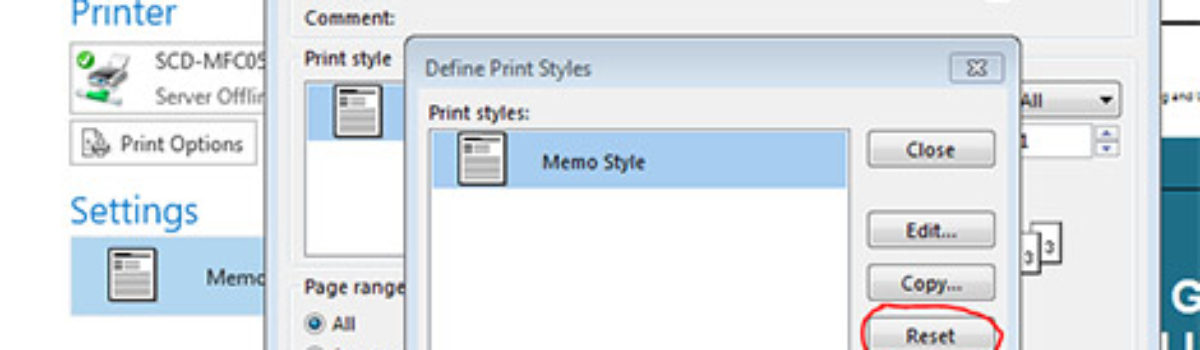 Outlook Wont Print Portrait