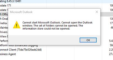 Outlook Cannot open the Outlook Window – SCD Information Technology